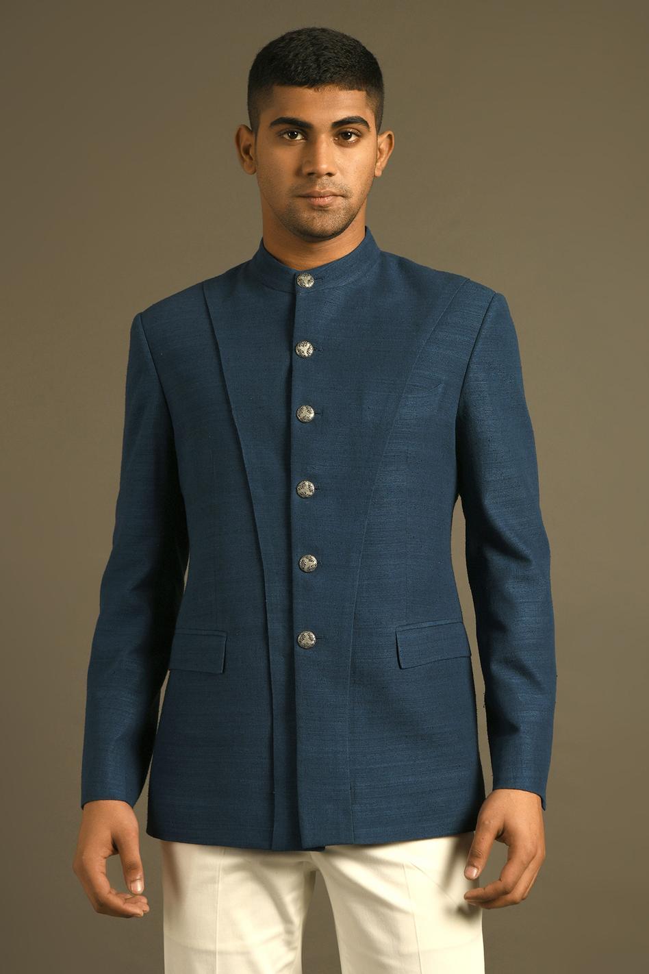 Silk Panelled Bandhgala