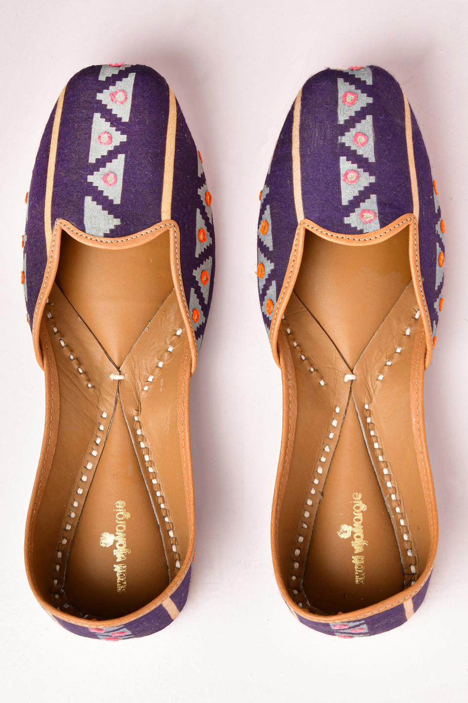 Modal Silk Handcrafted Juttis