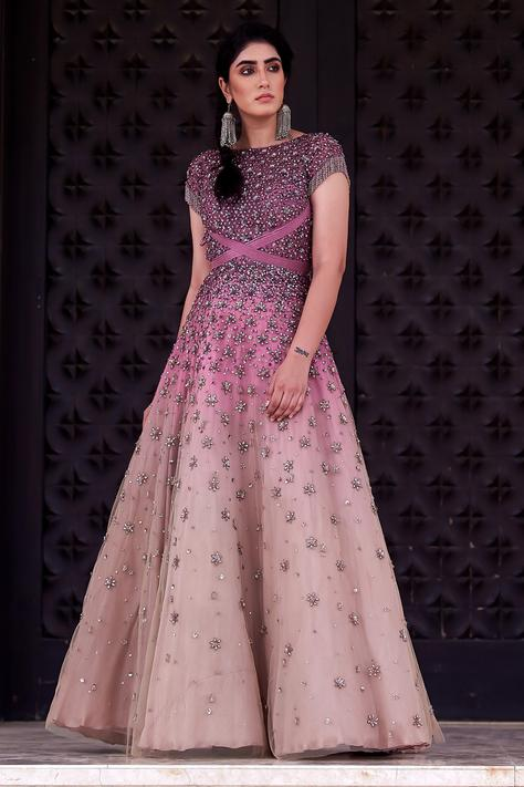 Silk Embroidered Gown