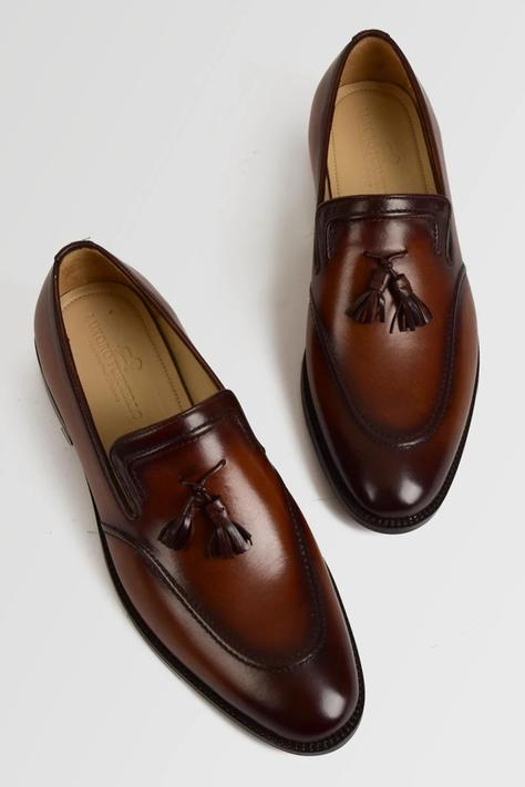 Hand Painted Tassel Loafers