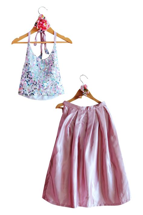 Sequin Top with Skirt
