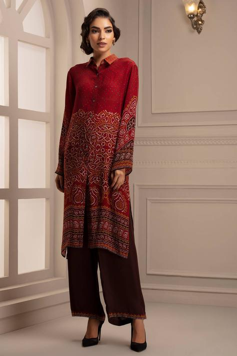 Silk Shirt Tunic & Pant Set