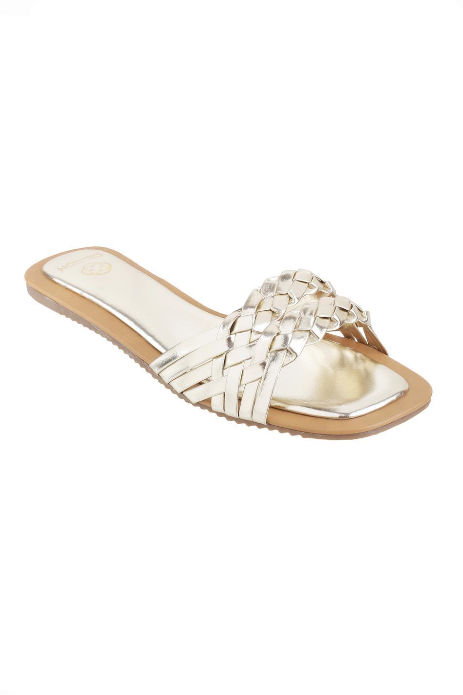 Charm Braided Strap Sandals