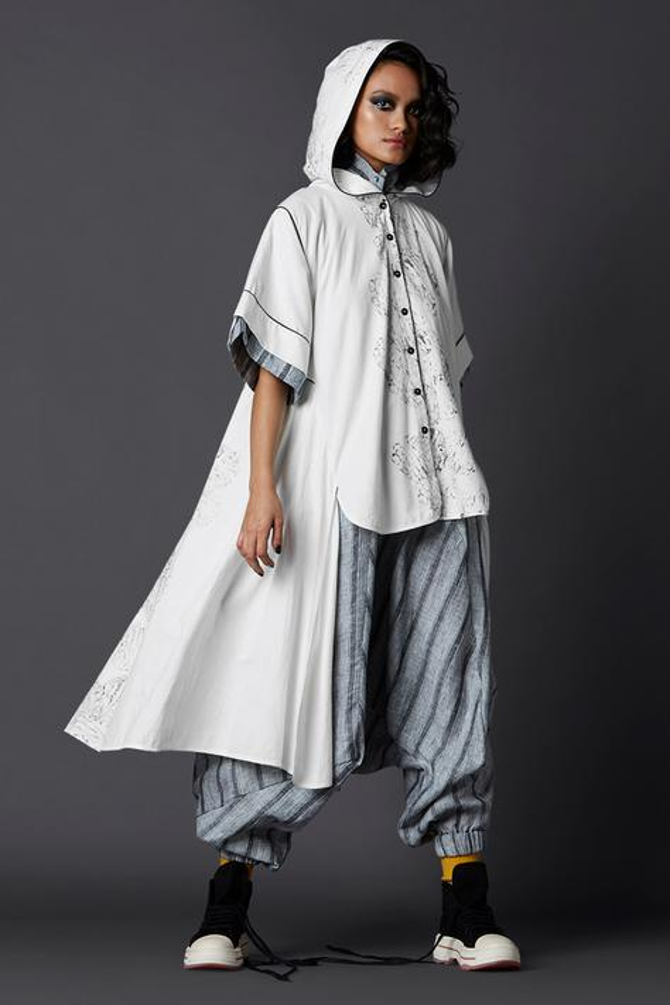 Asymmetric Hoodie Shirt
