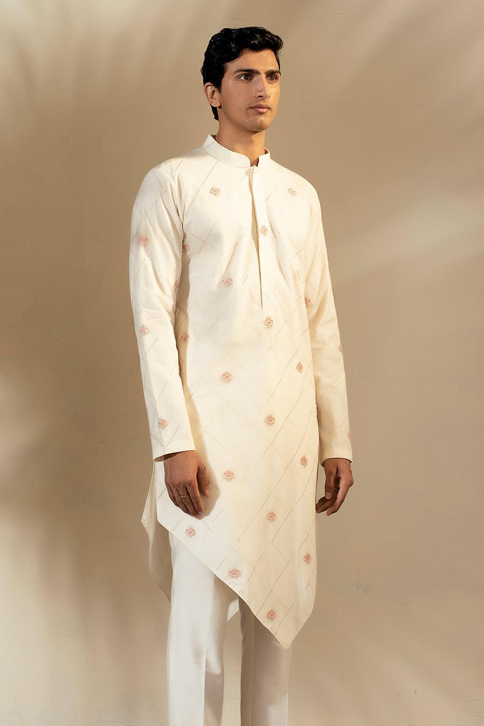 Handwoven Banarasi Silk Asymmetric Kurta