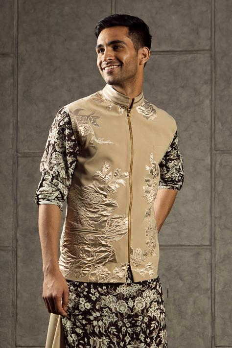 Floral Applique Nehru Jacket