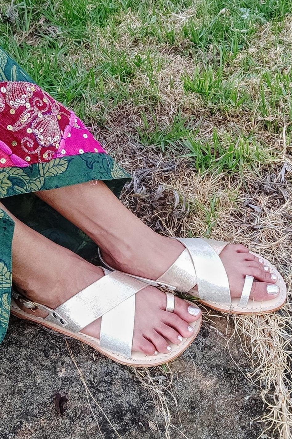 Broad Strap Slingback Sandals