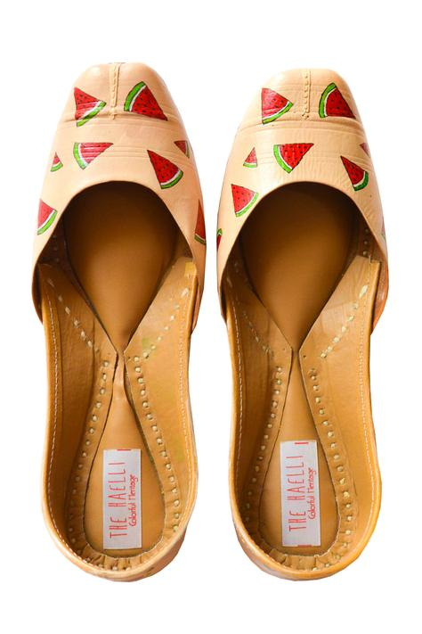Hand Painted Watermelon Juttis