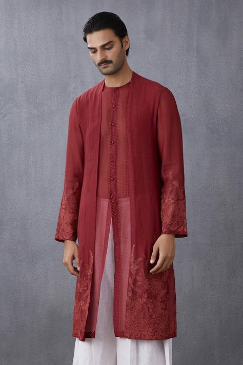 Handwoven Chanderi Layered Kurta