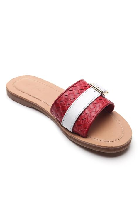 Textured Buckle Strap Sliders
