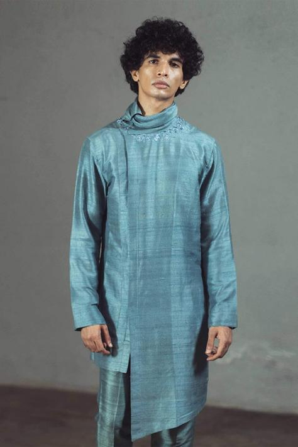 Silk Asymmetric Kurta