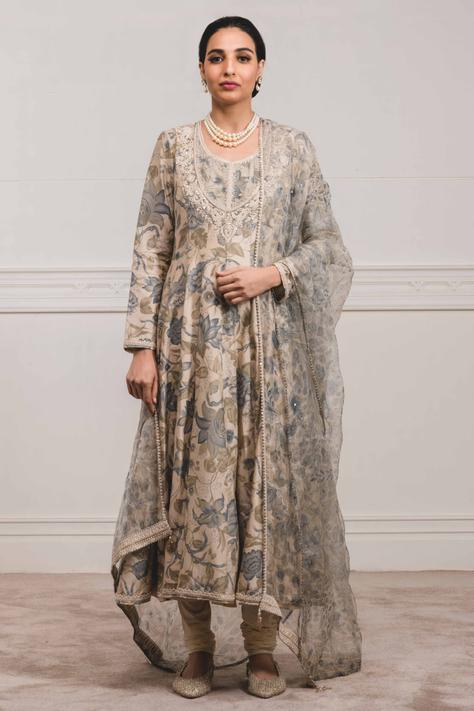 Chanderi Anarkali Set