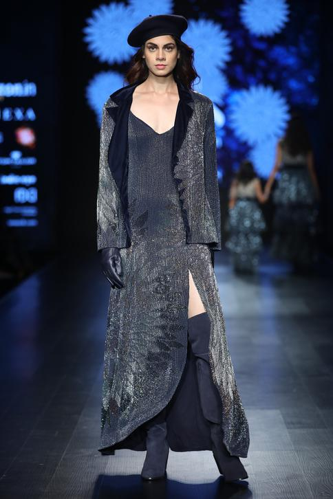 High Slit Gown With Jacket