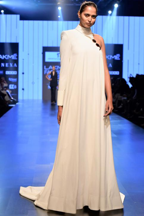 Trapeze High Neck Gown