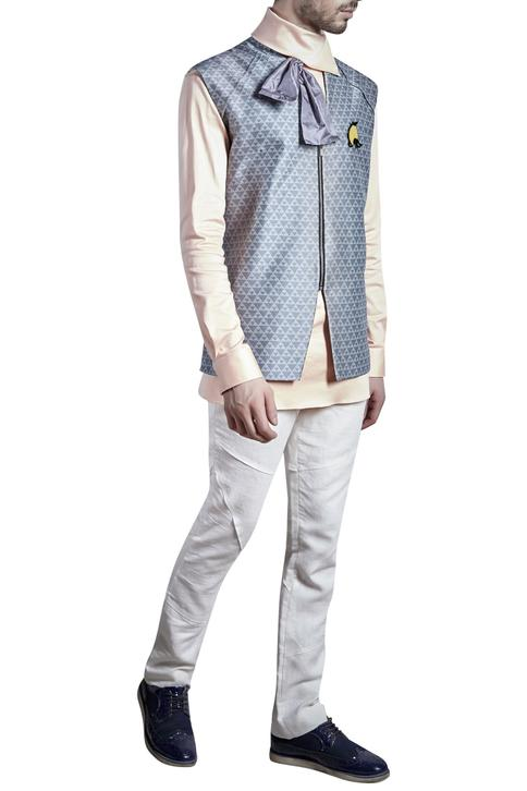 Printed Nehru Jacket with Shirt