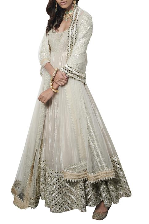 Hand Embroidered Anarkali Set