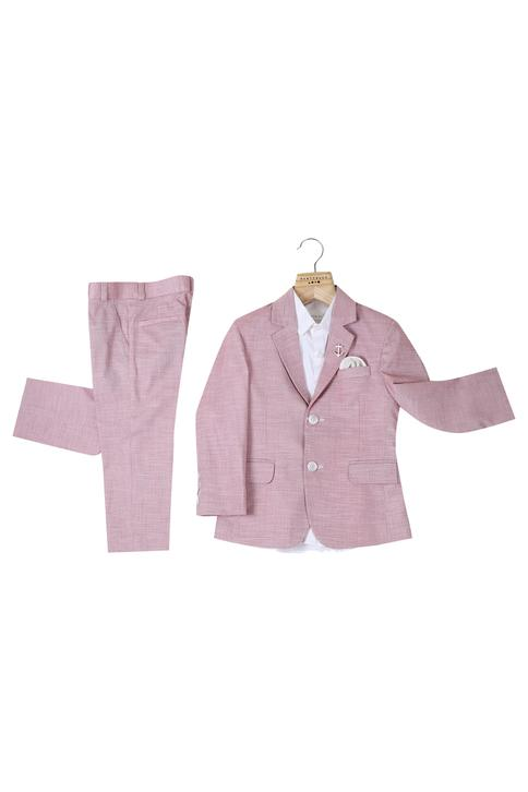 Textured blazer set