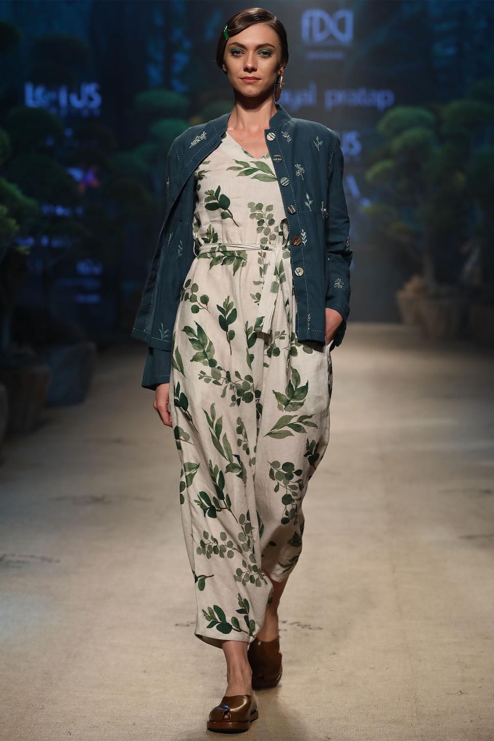 Linen Printed Jumpsuit
