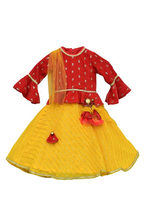 Embroidered Jacket Anarkali Set