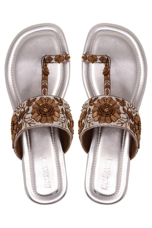 Floral Embroidered Sandals