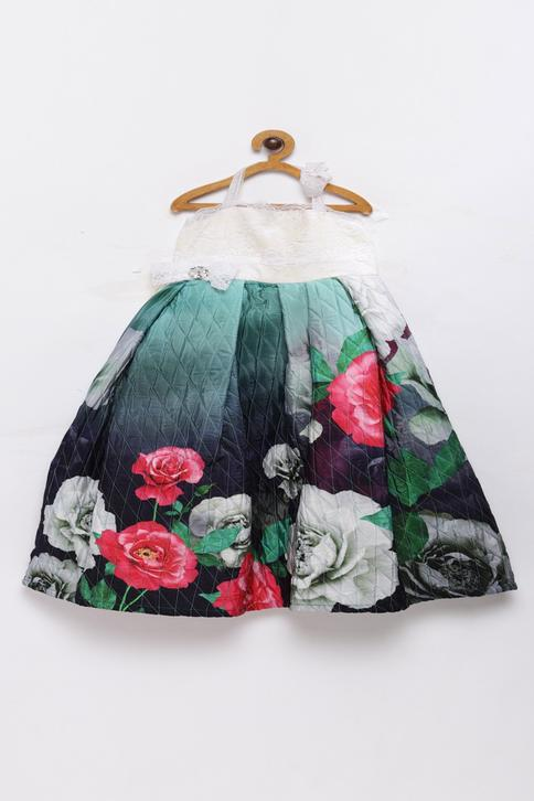 Quilted Floral Gown