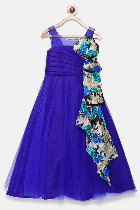 Printed Bow Gown