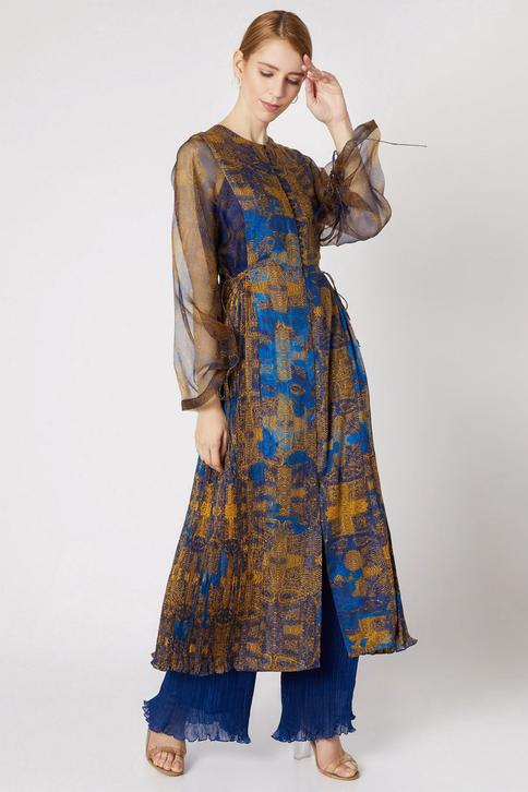 Cotton Silk Printed Tunic with Inner