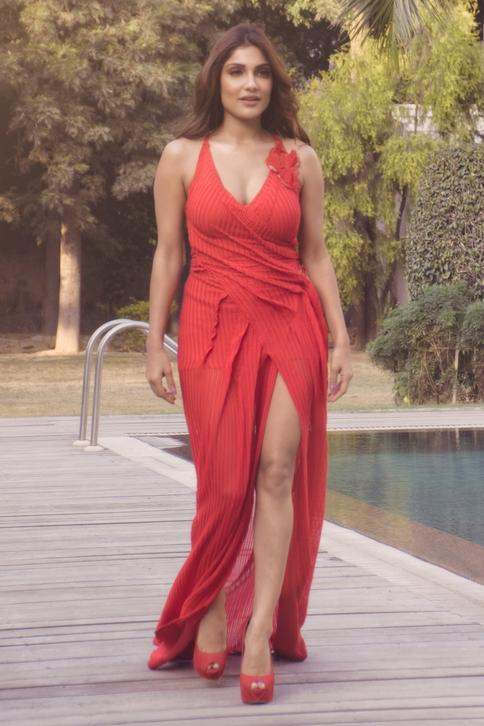 Backless Silk Gown