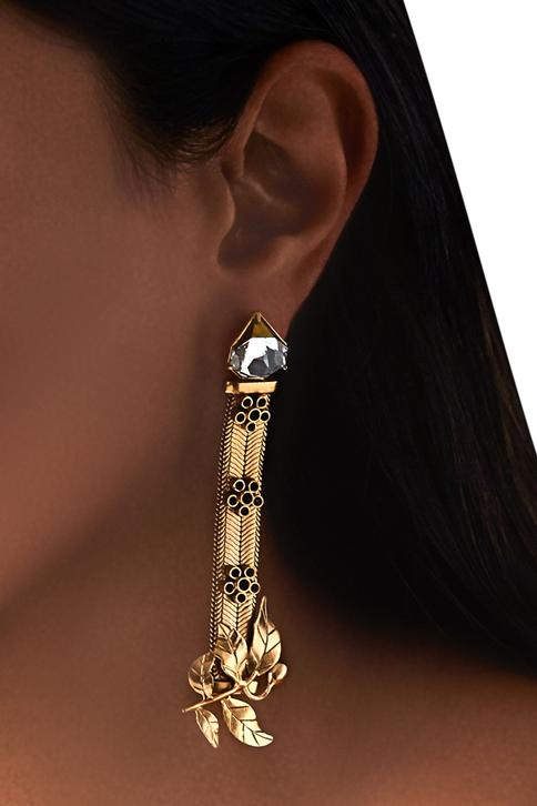 Suhani Pittie unsung tribe snake leaf earrings