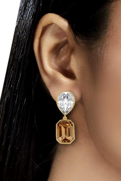 Shivan & Narresh emerald drop earrings