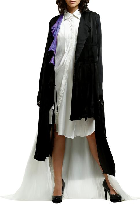 Asymmetric Draped Jacket
