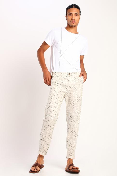 Linen Printed Trousers