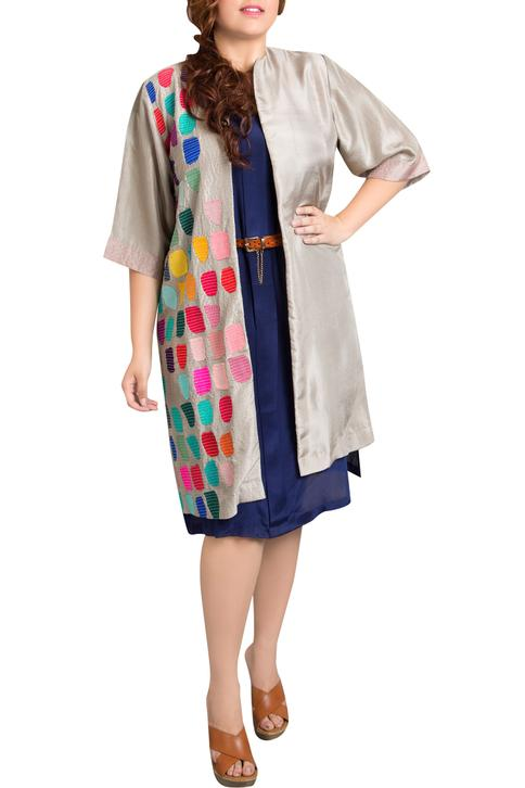Embroidered Long Jacket