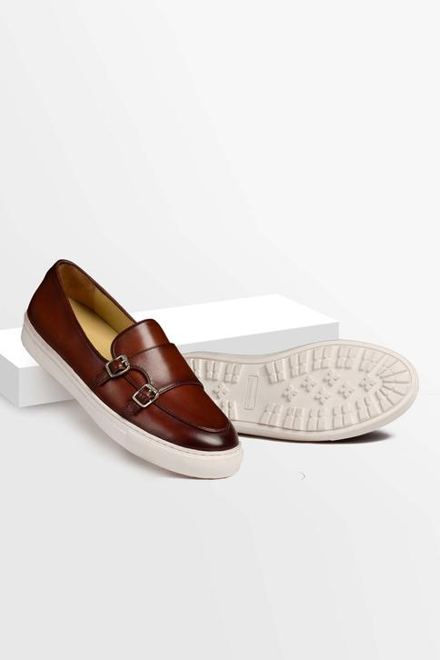 Hand Painted Double Monk Strap Sneakers
