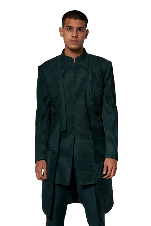 Textured Sherwani Set