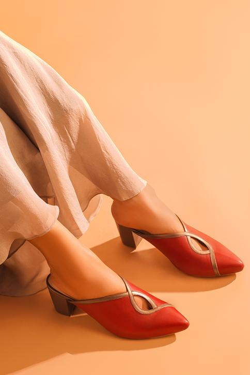 Amyra Pointed Toe Block Heels