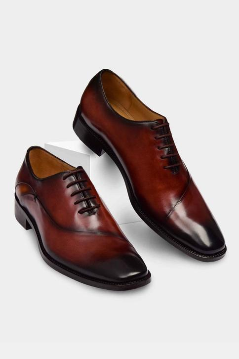 Hand Painted Square Toe Oxfords