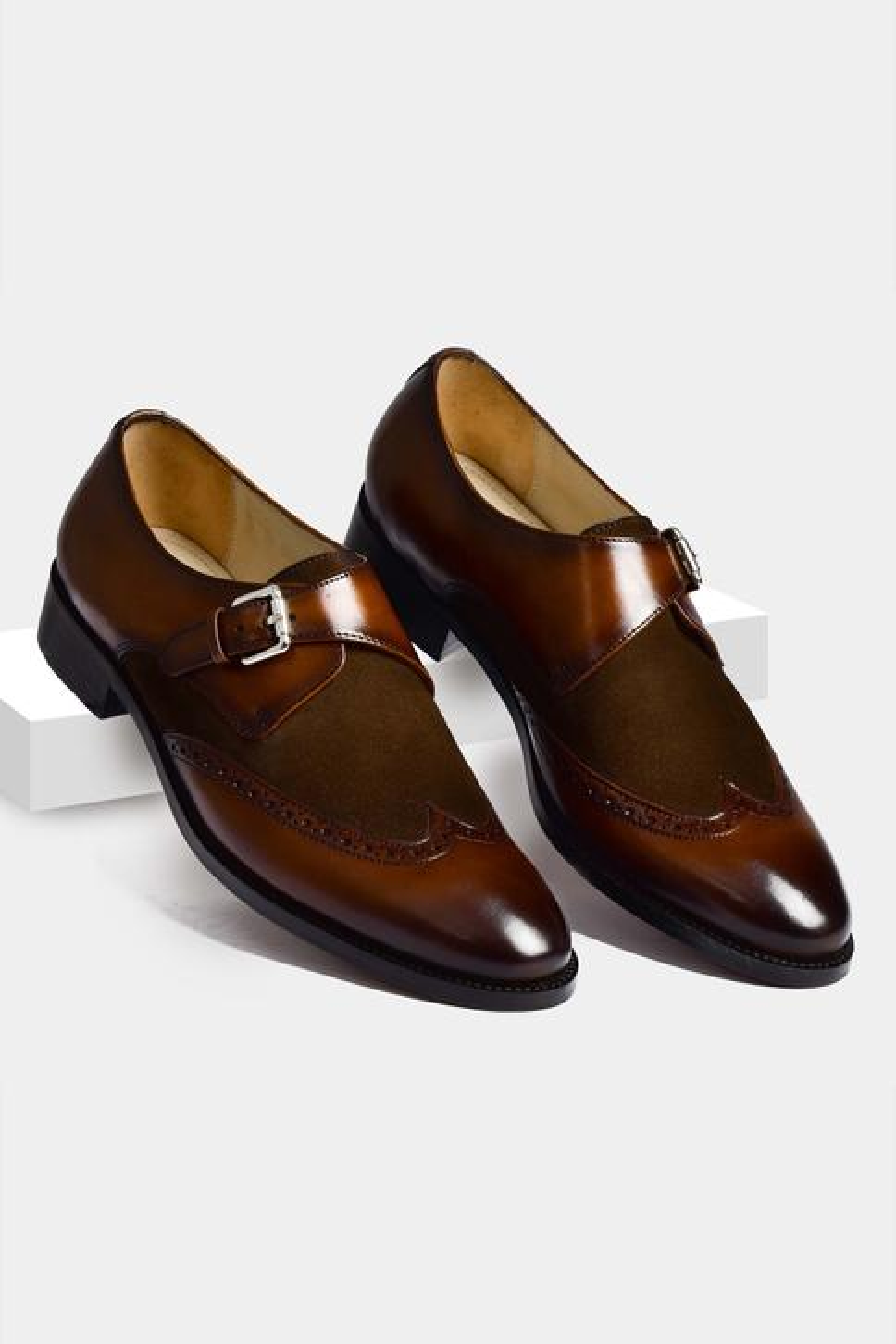 Single Monk Brogue Shoes