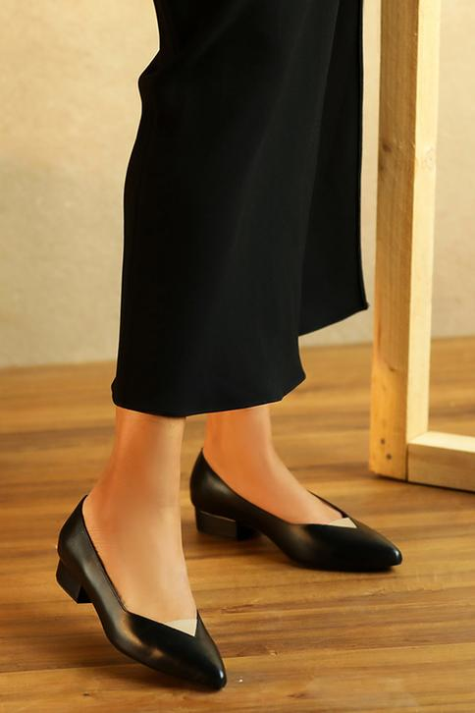Georgia Pointed Toe Block Heels