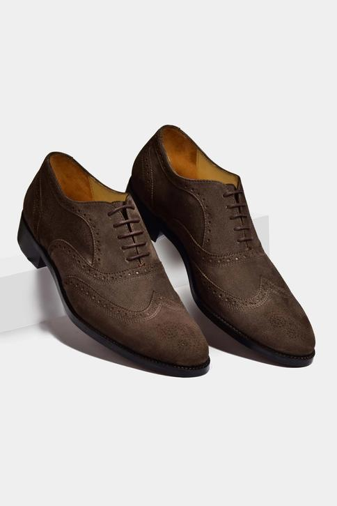 Suede Hand Painted Brogue Oxfords