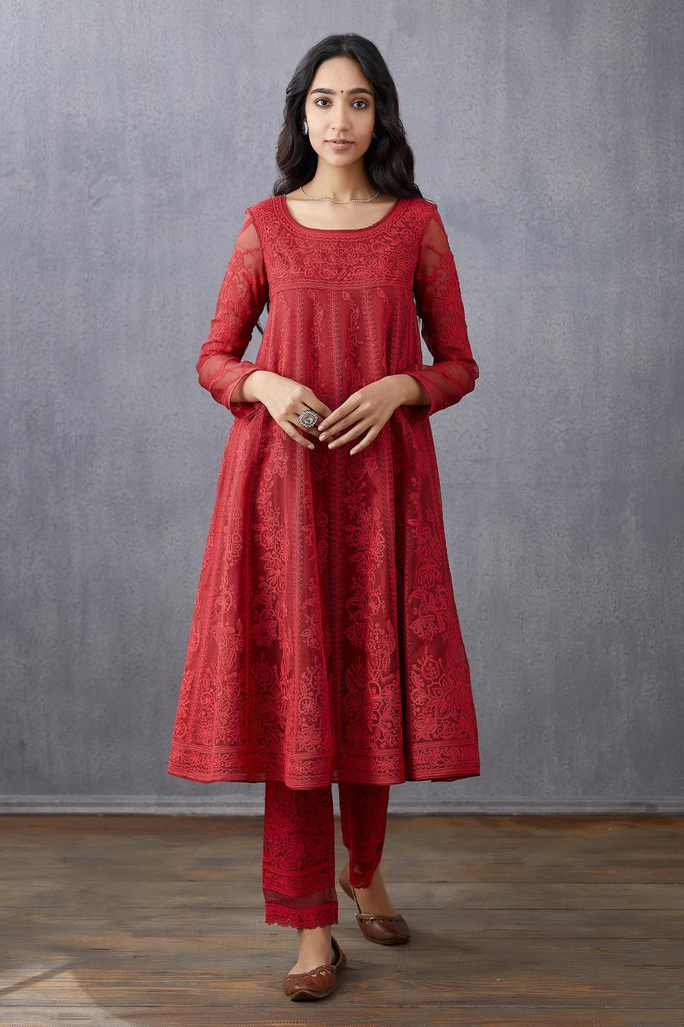 Handwoven Chanderi Silk Organza Pants