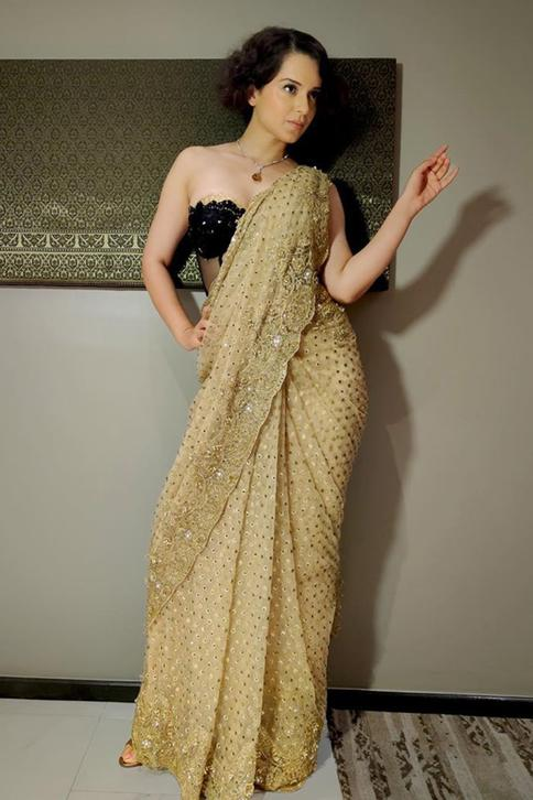 Embellished Saree with Corset Blouse