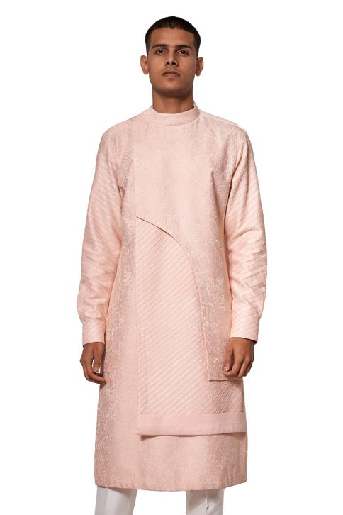 Embroidered Layered Kurta Set
