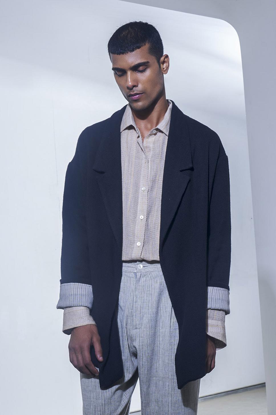 Organic Cotton Shirt with Jacket