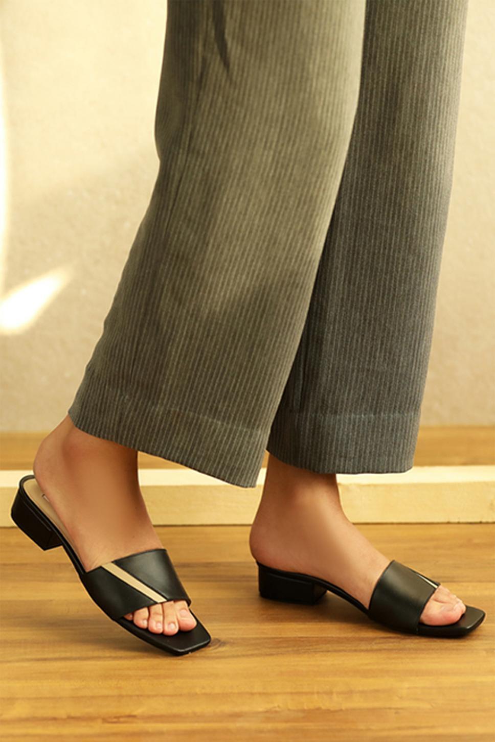 Handcrafted Lorna Block Heel Sandals