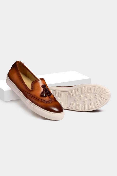Hand Painted Brogue Tassel Loafers