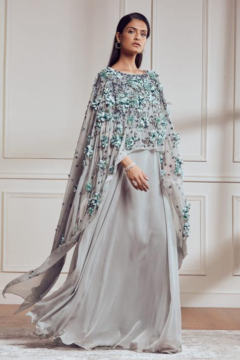 Applique Embroidered Gown