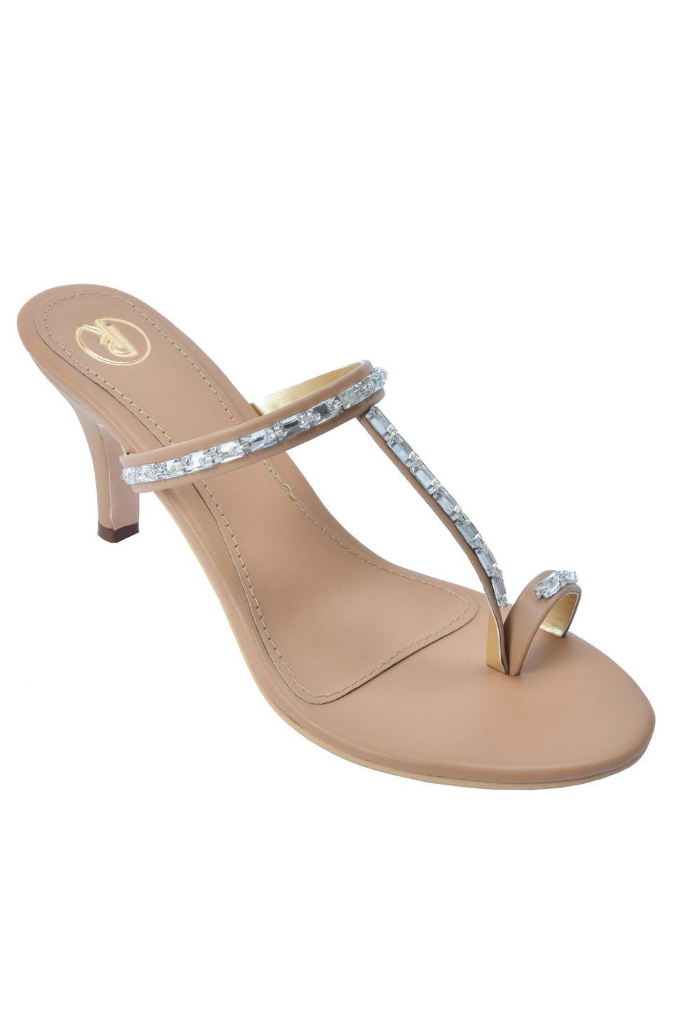 Embellished Cone Heels