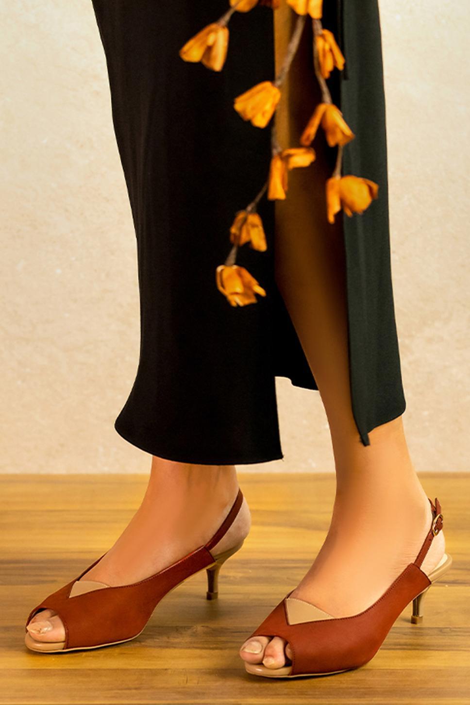 Shirring Handcrafted Peep Toe Stilettos