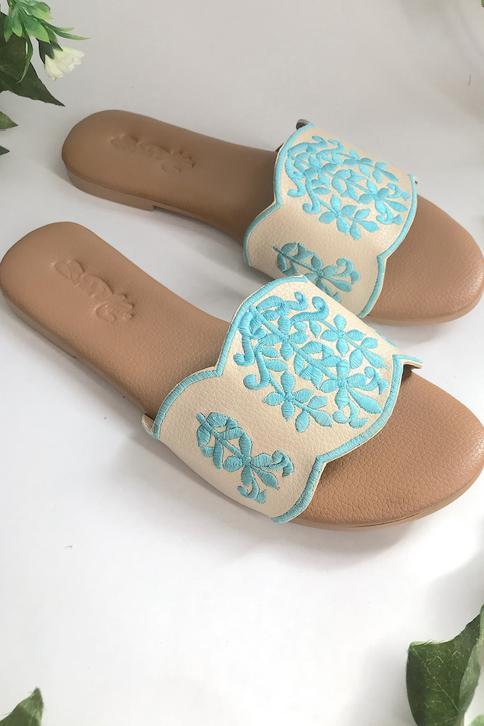 Embroidered Sliders